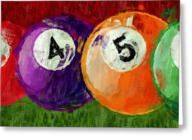 Solids Billiards Abstract Greeting Card