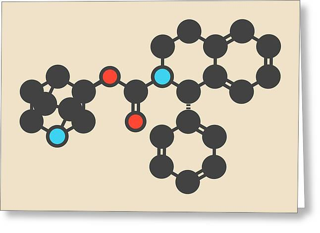 Solifenacin Molecule Greeting Card by Molekuul