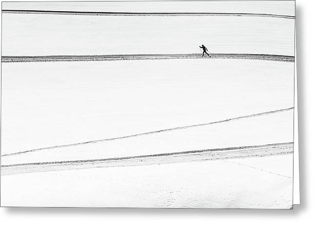 Solitary . . Greeting Card