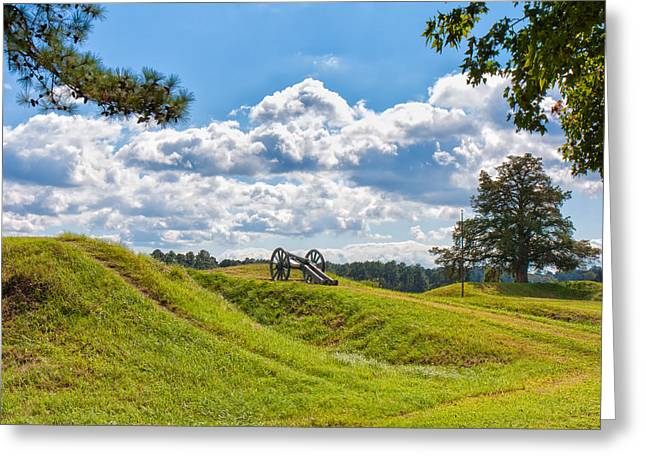 Solitary Cannon At Yorktown Greeting Card by John M Bailey