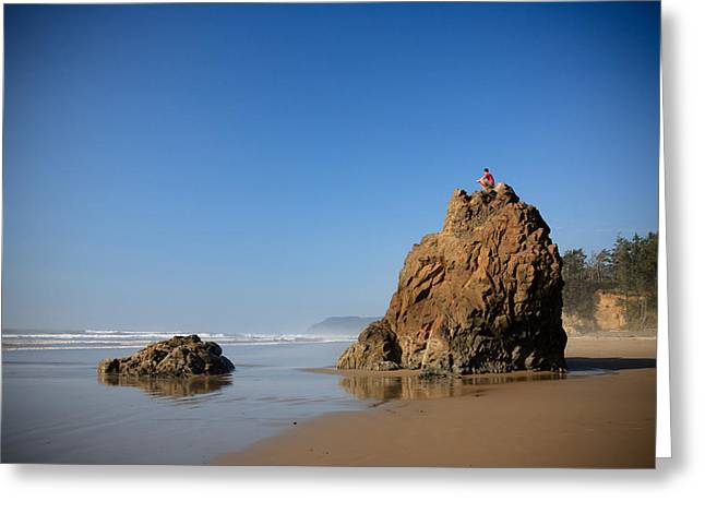 Greeting Card featuring the photograph Solitary Ocean View by Karen Lee Ensley