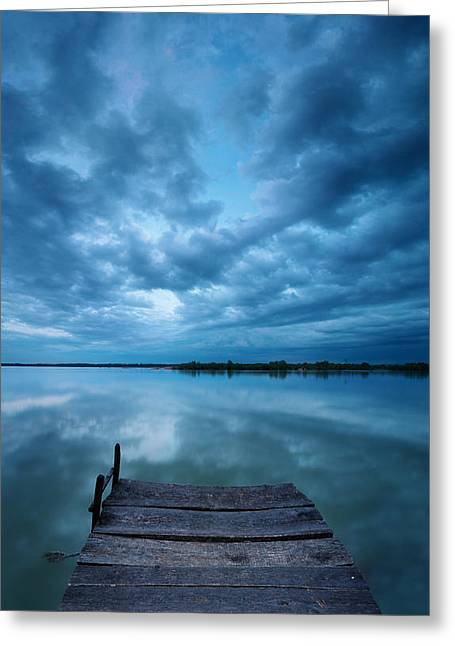 Solitary Pier Greeting Card