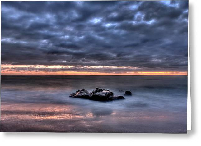 Solitary Rock Greeting Card by Peter Tellone