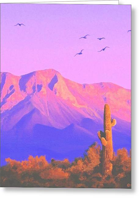 Solitary Silent Sentinel Greeting Card