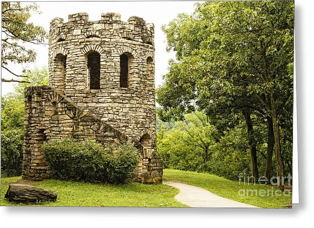 Greeting Card featuring the photograph Solitary Stone Tower by Lincoln Rogers