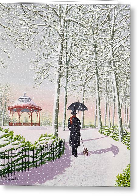 Solitary Stroll Greeting Card
