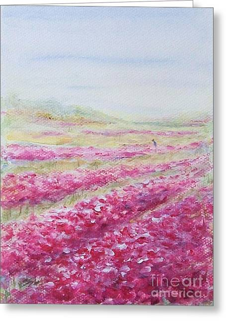 Greeting Card featuring the painting Solitude by Jane  See