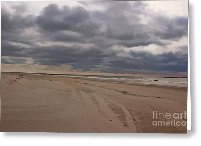 Solitude On The Beach Greeting Card by Tom Gari Gallery-Three-Photography
