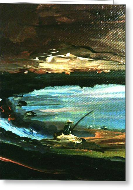 Greeting Card featuring the painting Solitude by Ray Khalife