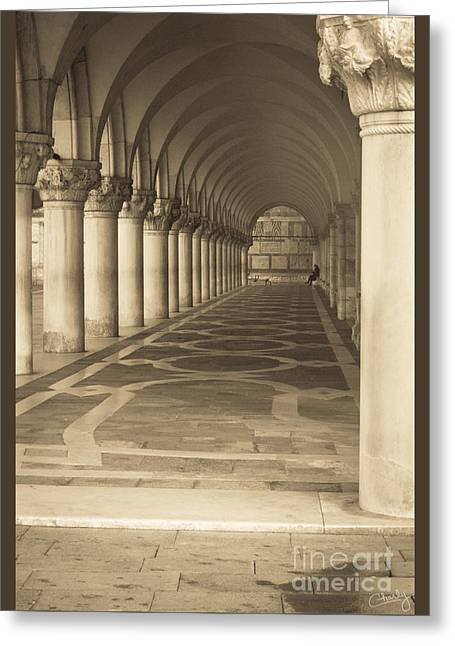 Solitude Under Palace Arches Greeting Card