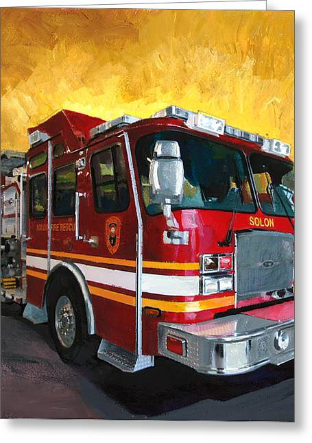 Solon Fire Engine Greeting Card