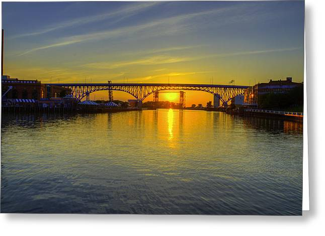 Solstice On The Cuyahoga River Greeting Card