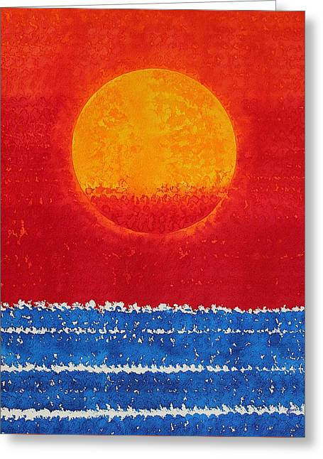 Solstice Sunrise Original Painting Sold Greeting Card