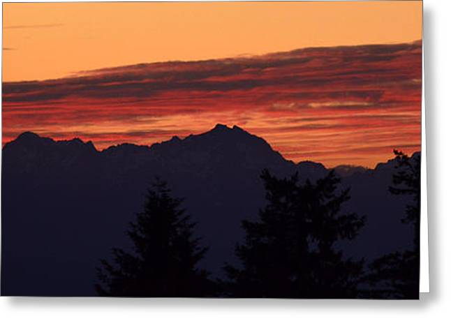 Solstice Sunset II Greeting Card by Gayle Swigart