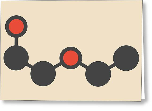 Solvent Molecule Greeting Card by Molekuul