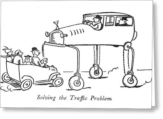 Solving The Traf?c Problem Greeting Card by Alfred Frueh