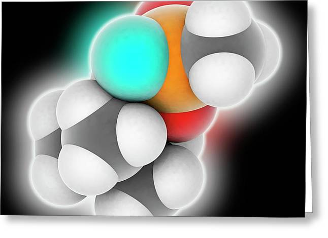 Soman Molecule Greeting Card by Laguna Design