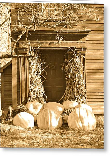 Some Big Pumpkins Greeting Card by Robin Regan