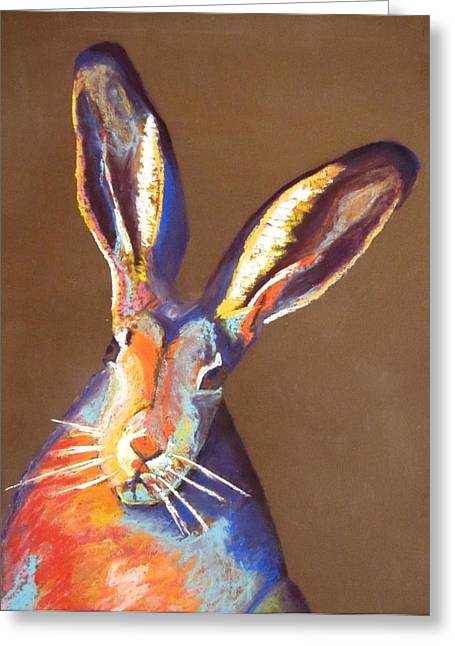 Some Bunnie At Easter Greeting Card by Holly Wright