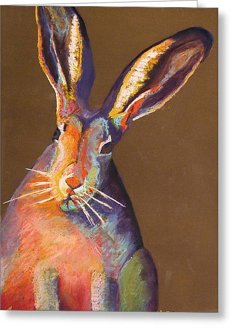 Some Bunnie On Grass Greeting Card by Holly Wright