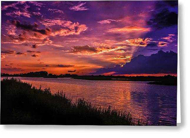 Some Enchanted Evening Greeting Card by Linda Karlin
