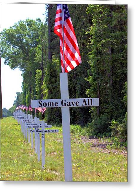 Greeting Card featuring the photograph Some Gave All by Gordon Elwell