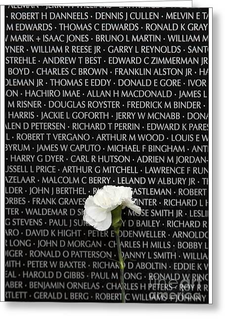 Some Gave All - Vietnam Veterans Memorial Greeting Card by Edward Fielding