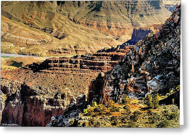 Some Views From Moran Point -  Grand Canyon Greeting Card by Bob and Nadine Johnston