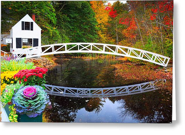 Somersville Bridge Greeting Card by Emmanuel Panagiotakis
