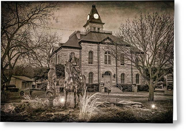 Somervell County Courthouse Greeting Card by Joan Carroll