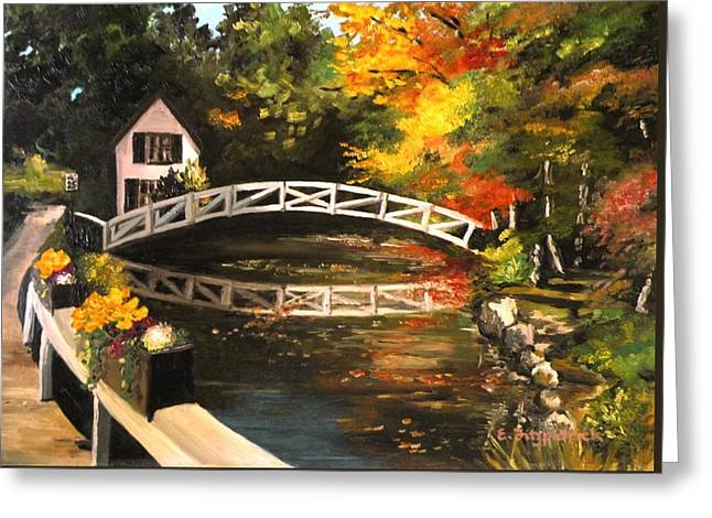 Somesville Maine Footbridge Greeting Card