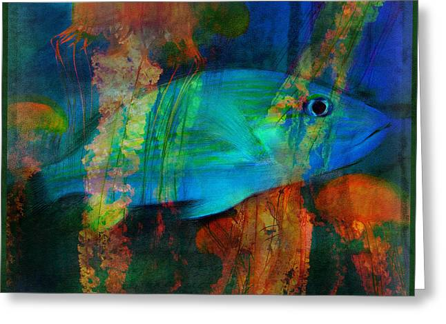 Something Fishy Greeting Card by Erika Weber