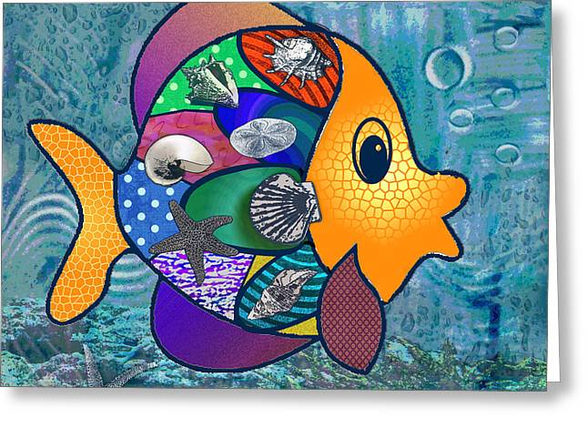 Something Fishy Greeting Card by Jennifer Schwab