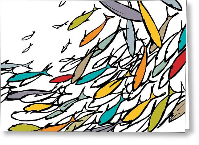 Something Fishy Greeting Card by Sarah Hough
