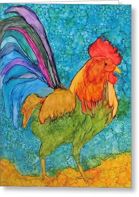 Something To Crow About Greeting Card by Linda Brown