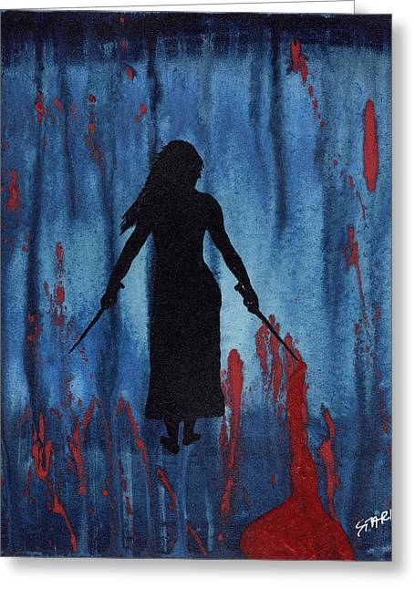 Something Wicked This Way Comes Greeting Card by Jim Stark