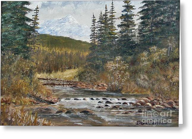 Somewhere Above South Fork Greeting Card by Dana Carroll