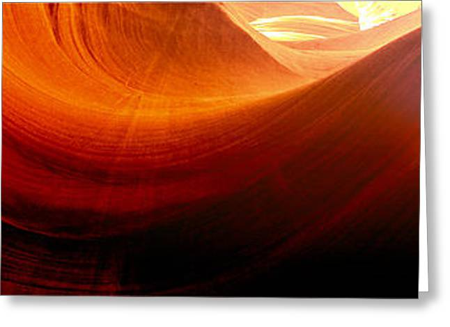 Greeting Card featuring the photograph Somewhere In America Series - Red Waves In Antelope Canyon by Lilia D