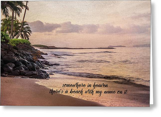 Somewhere In Heaven Greeting Card by Ramona Murdock
