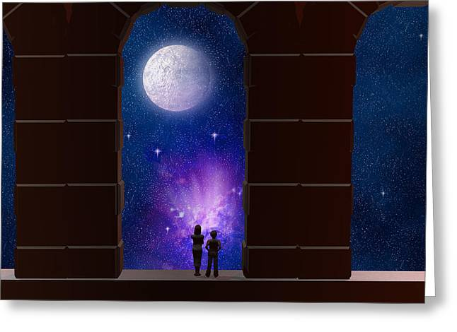 Somewhere In Time And Space Greeting Card by Carol and Mike Werner