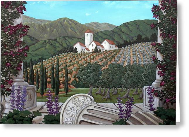 Somewhere In Tuscany Greeting Card by Gerry High