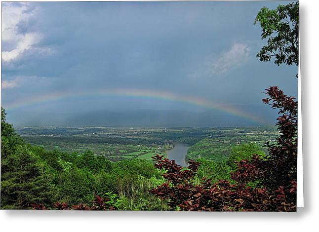 Somewhere Over The Blue Ridge Greeting Card