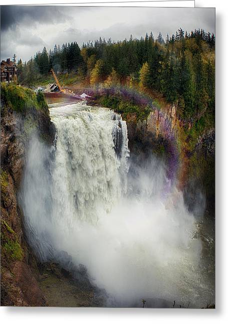 Somewhere Over The Falls Greeting Card by James Heckt