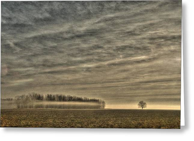Somewhere There On That Desolate Plain  Greeting Card by William Fields