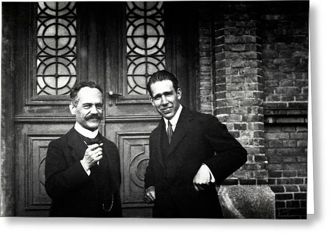 Sommerfeld And Bohr Greeting Card