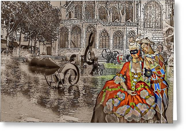 Somov Collage From Dreams Greeting Card by Yury Bashkin