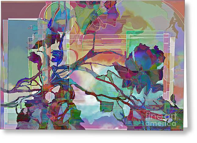 Greeting Card featuring the digital art Sonata by Ursula Freer