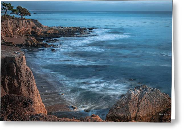 Song At The End Of Day--- Shell Beach Greeting Card