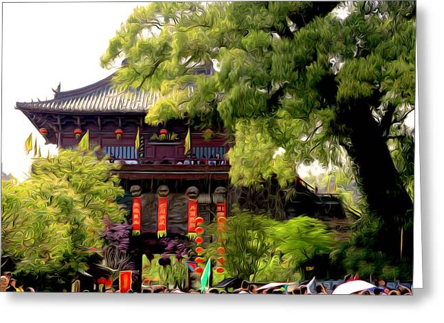 Song Dynasty Town In Dali 1 Greeting Card by Lanjee Chee