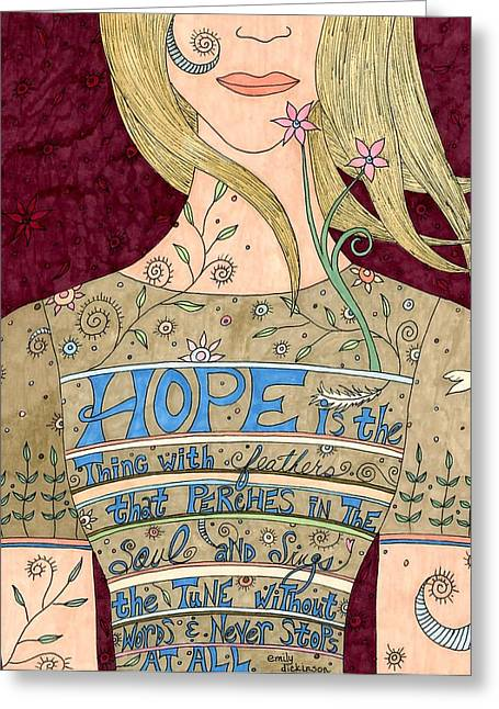 Song Of Hope Greeting Card by Valerie Lorimer